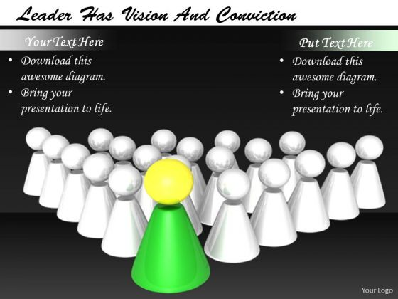 Stock Photo Business Strategy Execution Leader Has Vision And Conviction Images Graphics