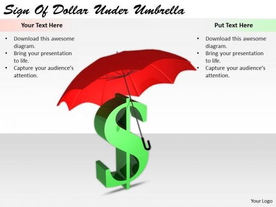 Stock Photo Business Strategy Execution Sign Of Dollar Under Umbrella Clipart