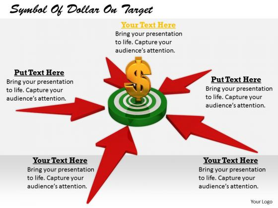 Stock Photo Business Strategy Execution Symbol Of Dollar Target Icons Images