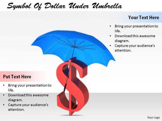Stock Photo Business Strategy Execution Symbol Of Dollar Under Umbrella Icons Images