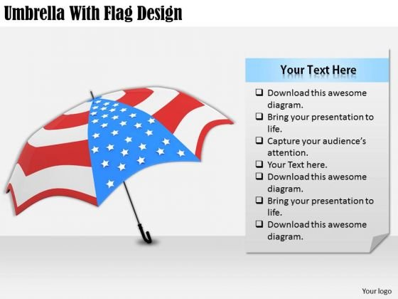 Stock Photo Business Strategy Execution Umbrella With Flag Design Stock Photo Pictures Images