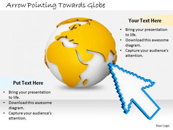 Stock Photo Business Strategy Formulation Arrow Pointing Towards Globe Stock Photos