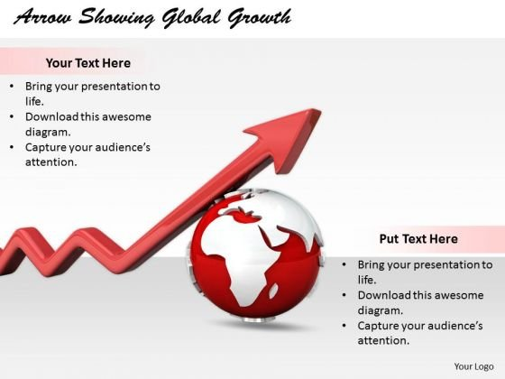 Stock Photo Business Strategy Formulation Arrow Showing Global Growth Stock Photos