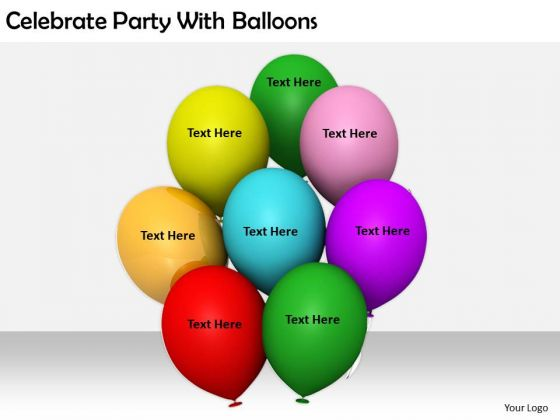 Stock Photo Business Strategy Formulation Celebrate Party With Balloons Stock Photo Icons