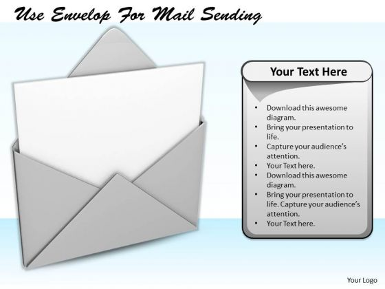 Stock Photo Business Strategy Formulation Use Envelop Mail Sending Success Images