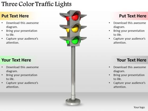 Stock Photo Business Strategy Implementation Three Color Traffic Lights Clipart