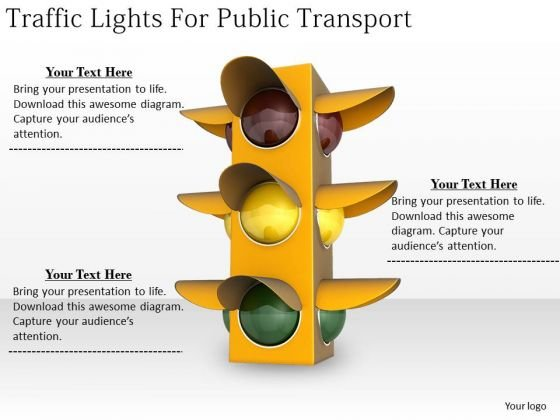 Stock Photo Business Strategy Implementation Traffic Lights For Public Transport Clipart