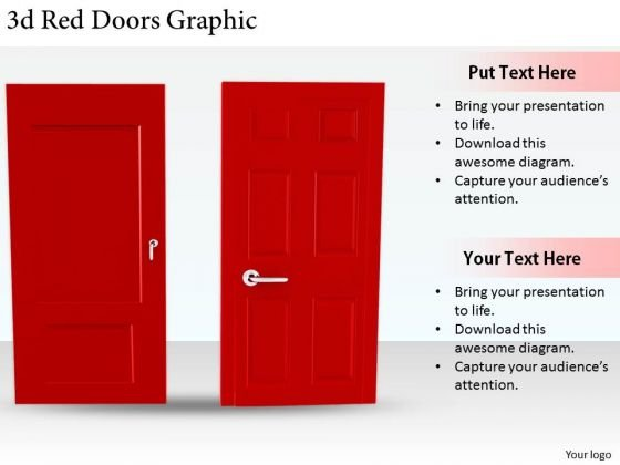 Stock Photo Business Strategy Innovation 3d Red Doors Graphic Stock Photo Images