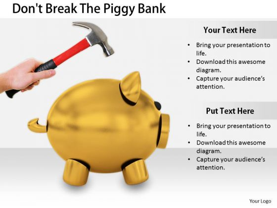 Stock Photo Business Strategy Innovation Dont Break The Piggy Bank Pictures