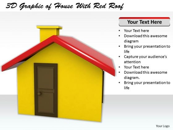 Stock Photo Business Strategy Model 3d Graphic Of House With Red Roof Images