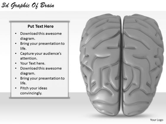 Stock Photo Business Strategy Plan 3d Graphic Of Brain Clipart Images
