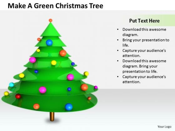 Stock Photo Business Strategy Plan Make Green Christmas Tree Images