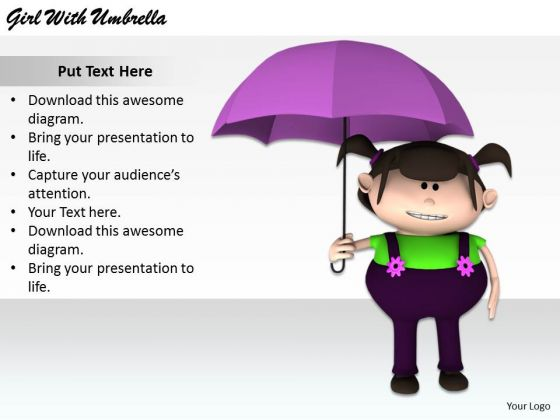 Stock Photo Business Strategy Plan Template Girl With Umbrella Images