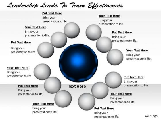 Stock Photo Business Strategy Plan Template Leadership Leads To Team Effectiveness Clipart Images
