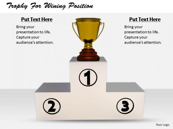 Stock Photo Business Strategy Plan Trophy For Wining Position