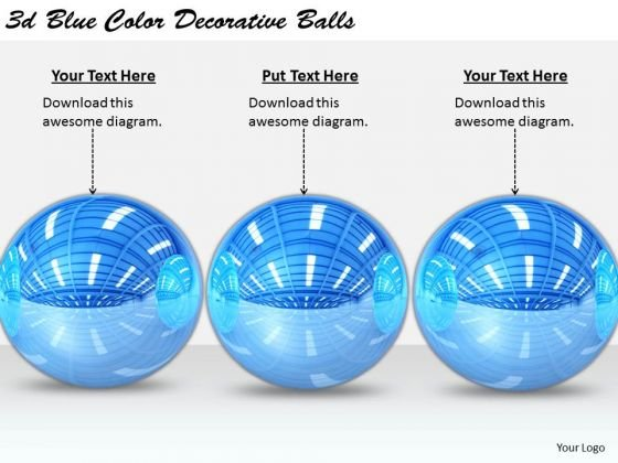 Stock Photo Business Strategy Process 3d Blue Color Decorative Balls Stock Photo Images