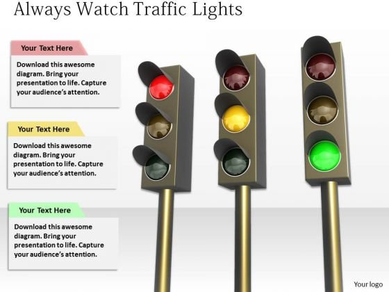 Stock Photo Business Strategy Process Always Watch Traffic Lights Images Photos