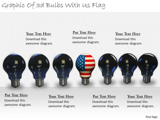 Stock Photo Business Strategy Review Graphic Of 3d Bulbs With Flag Stock Photo Icons Images