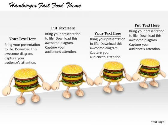 Stock Photo Business Strategy Review Hamburger Fast Food Theme Icons