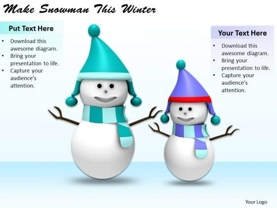 Stock Photo Business Strategy Review Make Snowman This Winter Stock Images