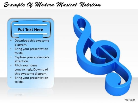 Stock Photo Business Unit Strategy Example Of Modern Musical Notation Images