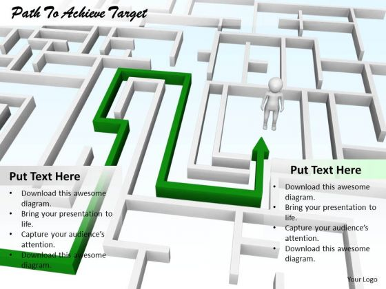 Stock Photo Business Unit Strategy Path To Achieve Target Success Images