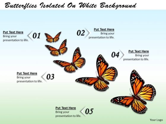 Stock Photo Butterflies Isolated On White Background Ppt Template
