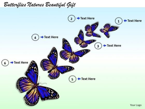 Stock Photo Butterflies Natures Beautiful Gift PowerPoint Template