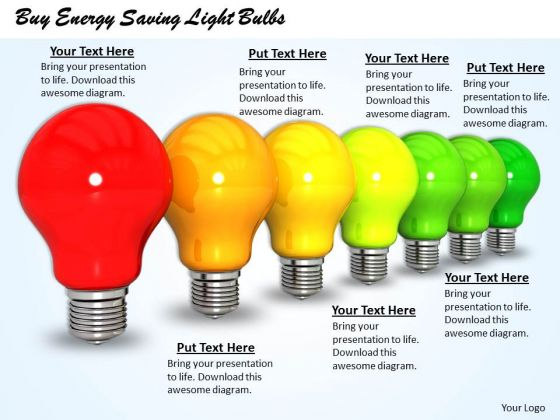 Stock Photo Buy Energy Saving Light Bulbs Ppt Template