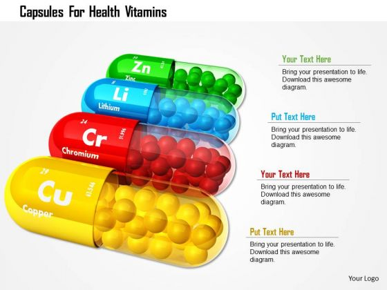 Stock Photo Capsules For Health Vitamins PowerPoint Slide