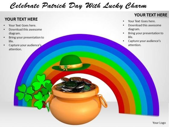 Stock Photo Celebrate Patrick Day With Lucky Charm PowerPoint Template