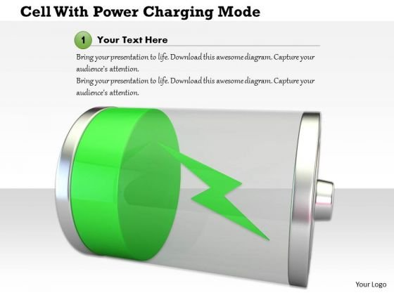 Stock Photo Cell With Power Charging Mode PowerPoint Slide