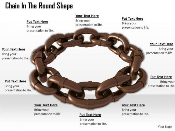 Stock Photo Chain In The Round Shape Isolated On White PowerPoint Slide