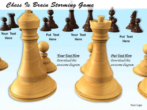 Stock Photo Chess Is Brain Storming Game PowerPoint Template