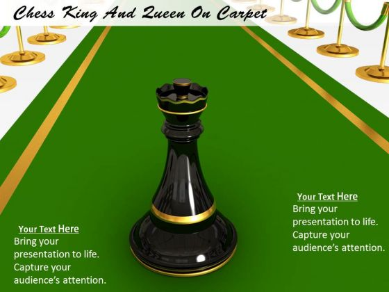 Stock Photo Chess King And Queen On Carpet PowerPoint Template