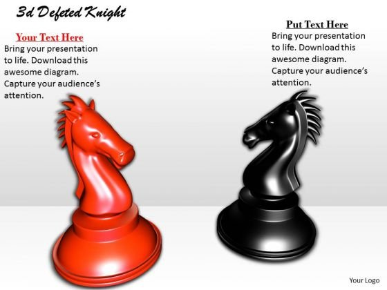 Stock Photo Chess Pieces Of Opposing Teams PowerPoint Slide