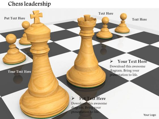 Stock Photo Chess Pieces On Chess Board PowerPoint Slide