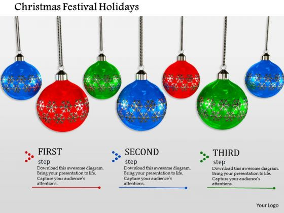 Stock Photo Christmas Festival Holidays PowerPoint Slide