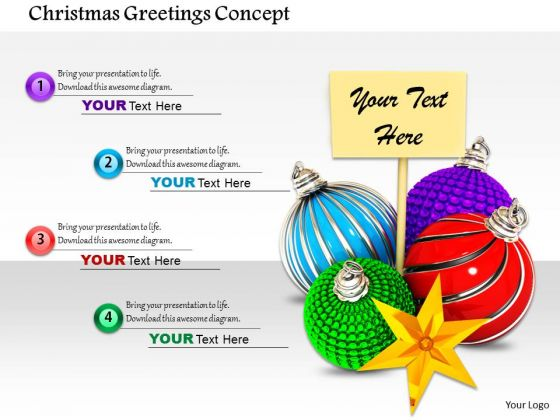 Stock Photo Christmas Greetings Concept PowerPoint Slide