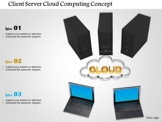 Stock Photo Client Server Cloud Computing Concept PowerPoint Slide