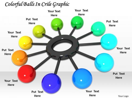 Stock Photo Colorful Balls In Crile Graphic PowerPoint Template