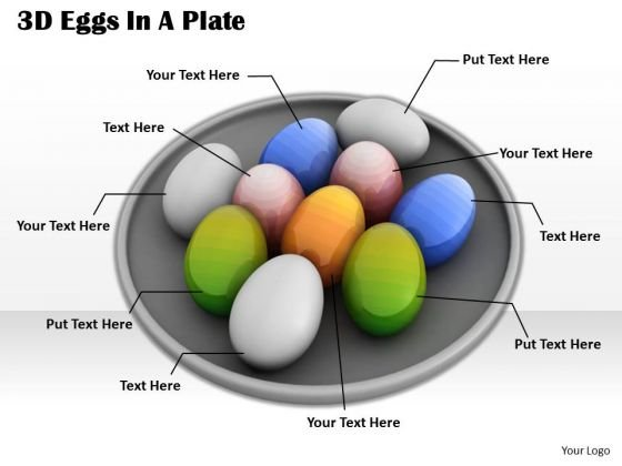Stock Photo Colorful Eggs In Plate Shows Team PowerPoint Slide