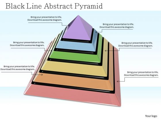 Stock Photo Colorful Pyramid With Growth PowerPoint Slide