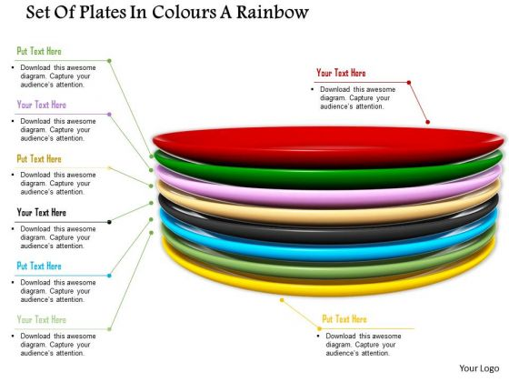 Stock Photo Colorful Set Of Dinner Plates PowerPoint Slide