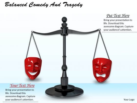 Stock Photo Comedy And Tragedy Balance PowerPoint Slide