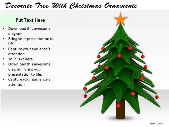 Stock Photo Company Business Strategy Decorate Tree With Christmas Ornaments Clipart
