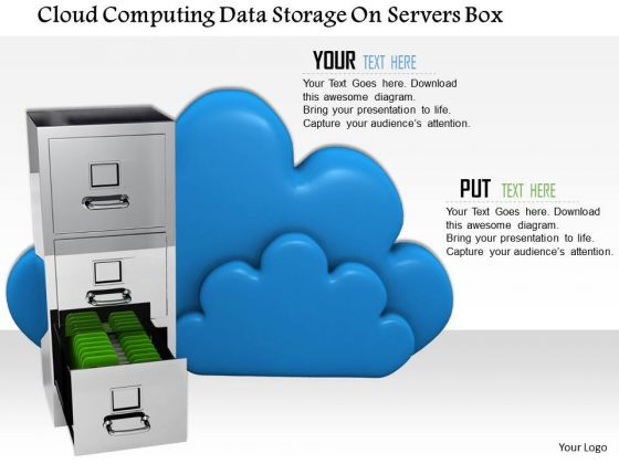 Stock Photo Conceptual Image Of Cloud Storage PowerPoint Slide