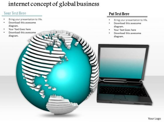 Stock Photo Conceptual Image Of Internet Technology PowerPoint Slide