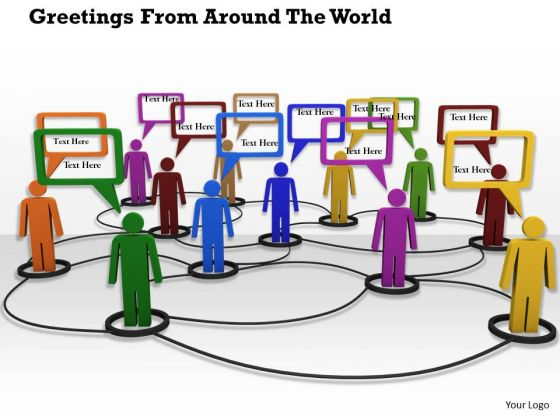 Stock Photo Conceptual Image Of Social Networking PowerPoint Slide
