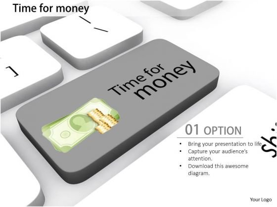 Stock Photo Conceptual Image Of Time For Money Pwerpoint Slide